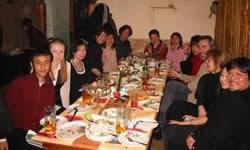 セルゲイ教授を囲んでの夕食会