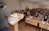オムスク大学での講義風景