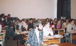サンクト・ペテルブルグ演劇大学での講演風景