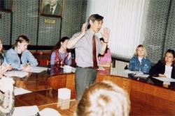 国立オムスク大学での講演